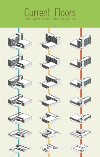 Isometric Building Stacks - RESIDE ACADEMY (FALL 2016-SPRING 2017)